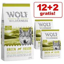 12 + 2 kg gratis! 14 kg Wolf of Wilderness tørfoder - Adult - Deep Seas - Sild