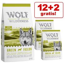 12 + 2 kg gratis! 14 kg Wolf of Wilderness tørfoder - ''Soft- Bule River'' Laks