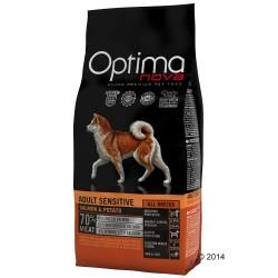 12 kg Adult Sensitive Salmon & Potato Optima nova - Kornfrit Hundefoder