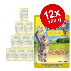 12x100 g MAC's Cat Laks & fjerkræ Kattemad