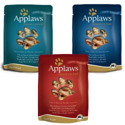 12x70 g Applaws Kylling Mix i bouillon - 3 varianter Kattemad