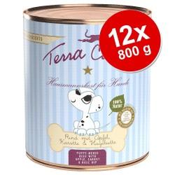 12x800g Terra Canis hvalpemenu med Kylling med græskar, kamille, blomsterpollen hundefoder vådfoder