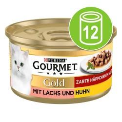 12x85 g Gourmet Gold Møre Bidder Kattemad