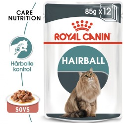12x85g Hairball Care Royal Canin i sauce Kattemad