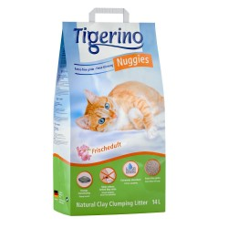 14 l Tigerino Nuggies Fresh - kattegrus