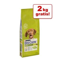 14kg Complet/Classic Lamb Dog Chow hundefoder 12 + 2 kg gratis!