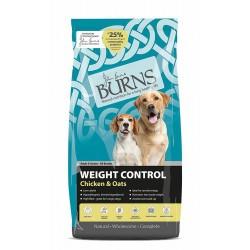 15 kg Burns Adult & Senior Weight Control+ Chicken & Oats Hundefoder