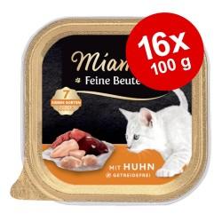 16 x 100 g Feine Beute Schale mit Kitten Geflügel Miamor kittennassfutter