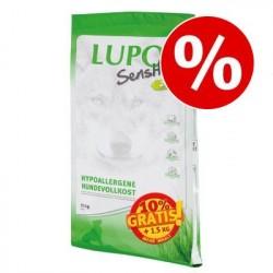 16,5kg 24/10 Lupo Sensitiv Hundetrockenfutter - 15+1,5kg gratis!