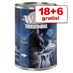 18 + 6 gratis! 24 x 400 g Wild Freedom Adult - Golden Valley - Kanin & Kylling