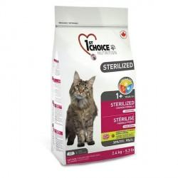 1stChoice Adult Sterilized, kattemad, 2,4 kg