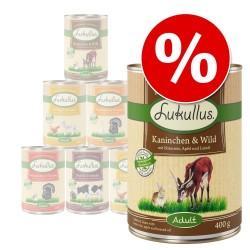 20% Rabat: Lukullus Naturkost prøvepakke - 6 x 300 g - Adult Mix Pouch Naturkost