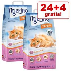24 + 4 l gratis! 28 l Tigerino Nuggies kattegrus - Fresh