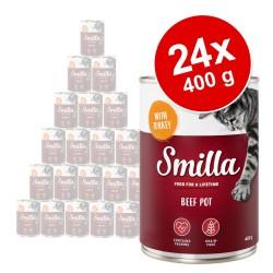24x400 g Smilla Oksegryde - Okse & Kylling vådfoder til katte
