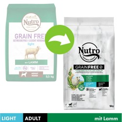2x10kg Grain Free Adult Light Lam Nutro hundefoder tør
