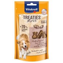 2x48g Vitakraft Treaties Bits Mini Leberwurst Hundesnack