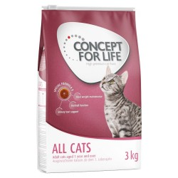 3 kg All Cats Concept for Life Kattemad
