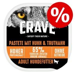 300g Adult Lachs & Truthahn Pastete Crave Hundenassfutter zum Sonderpreis!