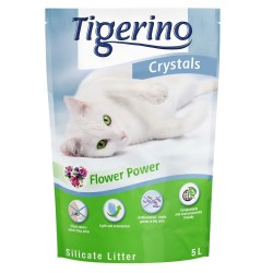 3x5 l Tigerino Crystals Flower-Power kattegrus