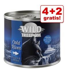 4 + 2 gratis! 6 x 200 / 400 g Wild Freedom - Deep Forest - Vildt & Kylling (6 x 200 g)