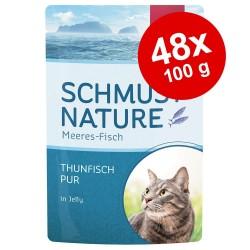 44/100g Schmusy kattevådfoder Ragout Kalkun i jelly