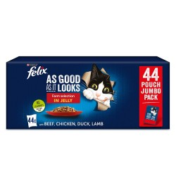 44x85g Mix Fisk & Kød Så lækkert som det ser ud Latz kattefoder
