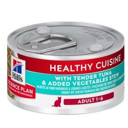 48 x 79 g Hill's Science Plan Adult Healthy Cuisine Ragout Tun kattefoder