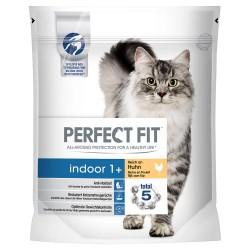 5x1,4 kg Perfect Fit Indoor 1+ kylling Kattemad