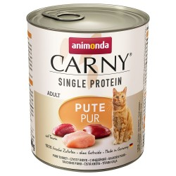 6 x 800 g Animonda Carny Single Protein Adult Pute pur Katze Nassfutter