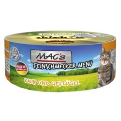 6x100 g MAC's Cat Gourmet Kalv & fjerkræ Kattemad
