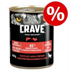 6x400g Adult Lamm und Rind Crave Hundenassfutter, zum Sonderpreis!