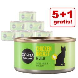 6x85 g Cosma Original Kylling i gelé Kattemad