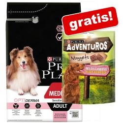 7kg PRO PLAN Small & Mini Adult OPTIBALANCE PURINA Hundefutter Trocken + 300g Nuggets AdVENTuROS Snacks gratis!