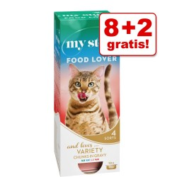 8 + 2 gratis! 10 x 85 g / 90 g My Star vådfoder - Mousse - Kalv 10 x 90 g