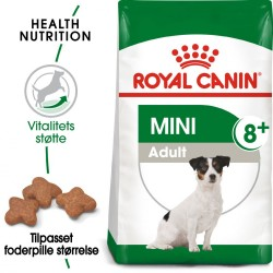 8kg Mini Adult 8+ Royal Canin Hundefoder