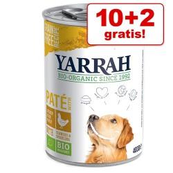 9 + 3 gratis! Yarrah Øko - Chunks: Kylling, okse, brændenælde & tomat (12 x 820 g)