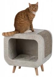Alicia Cuddly Cave - hyggehule til katten m. fødder i bøgetræ