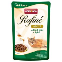 Animonda Rafiné 12 x 100 g - Adult: kylling, and & nudler (sovs)