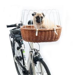 Aumüller Hunde-cykelkurv til styr med beskyttelsesgitter - Standard: ca. L 52 x B 38 x H 39 cm