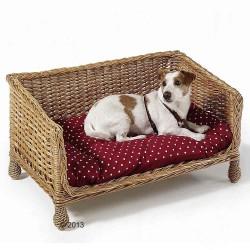 Aumüller Hundesofa af pil - ca. L 80 x B 50 x H 43 cm
