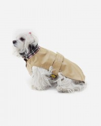 Beige vandafvisende voks jakke fra Fashion Dog (art.112), 30cm