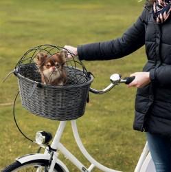 Bicycle Basket i farve grå - Polyrattan