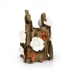 Biorb Ornament, flot træstub med hvide blomster