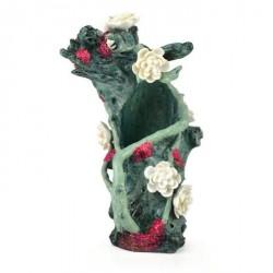 Biorb Ornament, Grøn træstub med blomster og glimmer