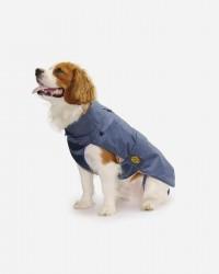 Blå regnjakke med aftageligt foer fra Fashion Dog (art.109), 18cm