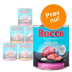 Blandet prøvepakke: Rocco Junior 6 x 800 g - 3 forskellige varianter