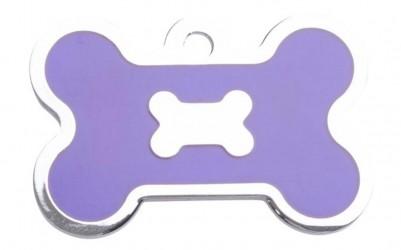 Bone small, Epoxy Purple på forsiden, hundetegn Kødben 29 mm