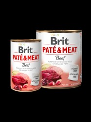 BRIT Paté og Meat, Oksekød, 6 x 400g