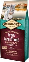 Carnilove Carp & Trout For Adult Cats - med frisk tørret kød, 6 kg - KORN og KARTOFFELFRI til steriliserede katte - BEMÆRK INCL.
