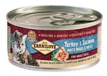 Carnilove Cat - Kalkun og Laks Adult, 100 g - vådfoder